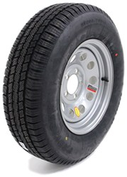 "Provider ST205/75R14 Radial Trailer Tire w/ 14"" Silver Mod Wheel - 5 on 4-1/2 - LR C"