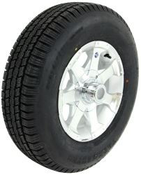 "Provider ST205/75R14 Radial Tire w/ 14"" Series 06 Aluminum Wheel - 5 on 4-1/2 - LR C - Silver"