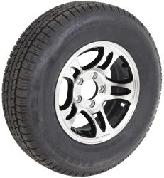 "Taskmaster ST205/75R14 Radial Tire w/ 14"" Series S5 Aluminum Wheel - 5 on 4-1/2 - LR C - Black"