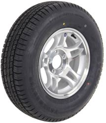 "Provider ST205/75R14 Radial Tire w/ 14"" Series S5 Aluminum Wheel - 5 on 4-1/2 - LR C - Silver"