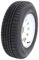 "Provider ST205/75R14 Radial Trailer Tire w/ 14"" White Mod Wheel - 5 on 4-1/2 - LR C"