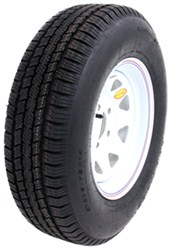 "Provider ST205/75R14 Radial Trailer Tire w/ 14"" White Spoke Wheel - 5 on 4-1/2 - LR C"