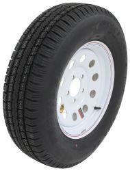 "Provider ST205/75R15 Radial Trailer Tire w 15"" White Mod Wheel - 5 on 4-1/2 - LR C"