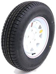 "Provider ST205/75R15 Trailer Tire w/ 15"" White Spoke Wheel - 5 on 5 - LR C"