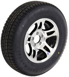 "Provider ST205/75R15 Radial Tire w/ 15"" Series S5 Aluminum Wheel - 5 on 4-1/2 - LR C - Black"