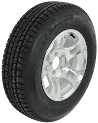 "Provider ST205/75R15 Radial Tire w/ 15"" Series S5 Aluminum Wheel - 5 on 4-1/2 - LR C - Silver"