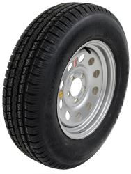 "Taskmaster ST205/75R15 Radial Trailer Tire with 15"" Silver Mod Wheel - 5 on 4-1/2 - LR C"