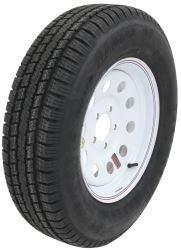 "Taskmaster ST205/75R15 Radial Trailer Tire with 15"" White Mod Wheel - 5 on 4-1/2 - LR C"