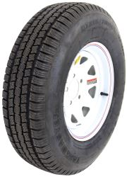"Taskmaster ST205/75R15 Radial Trailer Tire with 15"" White Spoke Wheel - 5 on 4-1/2 - LR C"