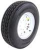 "Provider ST235/85R16 Radial Trailer Tire w/ 16"" White Mod Wheel - 8 on 6-1/2 - LR G"