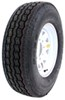 "Provider ST235/85R16 Radial Trailer Tire w/ 16"" White Spoke Wheel - 8 on 6-1/2 - LR G"
