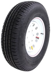 "Provider ST235/80R16 Trailer Tire w/ 16"" White Mod Wheel - 6 on 5-1/2 - LR E"