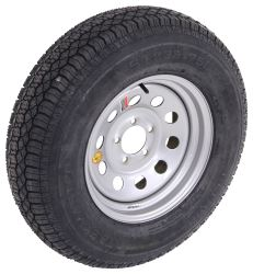 "Taskmaster ST225/75D15 Bias Trailer Tire with 15"" Silver Mod Wheel - 5 on 4-1/2 - Load Range D"