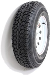 "Taskmaster ST225/75D15 Bias Trailer Tire with 15"" White Mod Wheel - 5 on 4-1/2 - Load Range D"