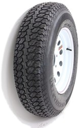 "Taskmaster ST225/75D15 Bias Trailer Tire with 15"" White Mod Wheel - 6 on 5-1/2 - Load Range D"