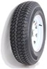 "Taskmaster ST225/75D15 Bias Trailer Tire with 15"" White Spoke Wheel - 6 on 5-1/2 - Load Range D"