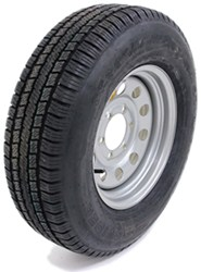 "Provider ST225/75R15 Radial Trailer Tire w/ 15"" Silver Mod Wheel - 6 on 5-1/2 - LR D"