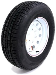 "Provider ST225/75R15 Radial Trailer Tire w/ 15"" White Mod Wheel - 6 on 5-1/2 - LR D"