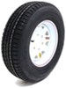"Provider ST225/75R15 Radial Trailer Tire w/ 15"" White Spoke Wheel - 6 on 5-1/2 - LR D"