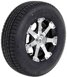 "Provider ST225/75R15 Radial Tire w/ 15"" Series 06 Aluminum Wheel - 6 on 5-1/2- LR D - Black"