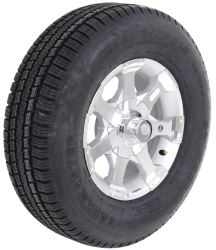 "Provider ST225/75R15 Radial Tire w/ 15"" Series 06 Aluminum Wheel - 6 on 5-1/2- LR D - Silver"