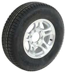 "Provider ST225/75R15 Radial Tire w/ 15"" Series S5 Aluminum Wheel - 6 on 5-1/2 - LR D - Silver"