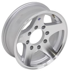 "Aluminum Hi-Spec Series 04 Star Mag Wheel w/ -8 mm Offset - 16"" x 6"" Rim - 8 on 6-1/2"