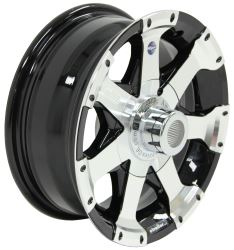 "Aluminum Hi-Spec Series 06 Trailer Wheel - 14"" x 5-1/2"" Rim - 5 on 4-1/2 - Black"