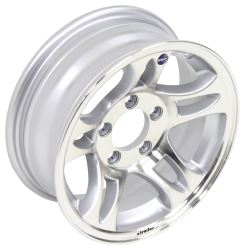 "Aluminum Hi-Spec Series S5 Trailer Wheel - 14"" x 5-1/2"" Rim - 5 on 4-1/2 - Silver"
