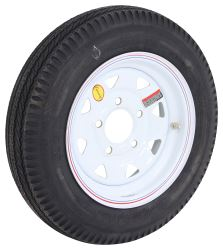 "Taskmaster 4.80-12 Bias Trailer Tire with 12"" White Spoke Wheel - 5 on 4-1/2 - Load Range C"