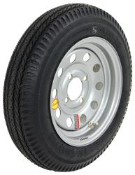 "Taskmaster 4.80-12 Bias Trailer Tire with 12"" Silver Mod Wheel - 4 on 4 - Load Range C"