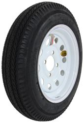 "Taskmaster 4.80-12 Bias Trailer Tire with 12"" White Mod Wheel - 4 on 4 - Load Range C"
