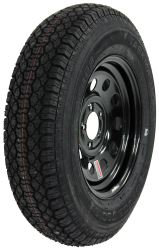"Taskmaster ST205/75D15 Bias Trailer Tire with 15"" Black Mod Wheel - 5 on 4-1/2 - Load Range C"