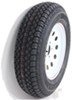 "Taskmaster ST205/75D15 Bias Trailer Tire with 15"" White Mod Wheel - 5 on 4-1/2 - Load Range C"