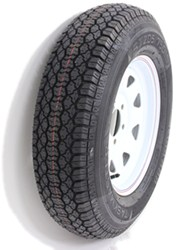 "Taskmaster ST205/75D15 Bias Trailer Tire with 15"" White Spoke Wheel - 5 on 4-1/2 - Load Range C"