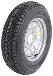 "Taskmaster ST205/75D15 Bias Trailer Tire with 15"" Silver Mod Wheel - 5 on 5 - Load Range C"