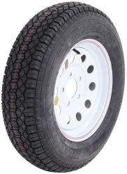 "Taskmaster ST205/75D15 Bias Trailer Tire with 15"" White Mod Wheel - 5 on 5 - Load Range C"