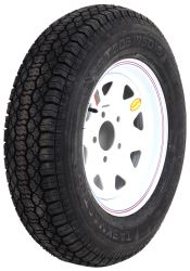 "Taskmaster ST205/75D15 Bias Trailer Tire with 15"" White Spoke Wheel - 5 on 5 - Load Range C"
