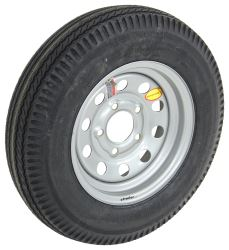 "Taskmaster 5.30-12 Bias Trailer Tire with 12"" Silver Mod Wheel - 5 on 4-1/2 - Load Range C"