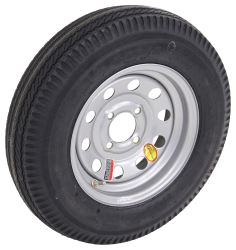 "Taskmaster 5.30-12 Bias Trailer Tire with 12"" Silver Mod Wheel - 4 on 4 - Load Range C"