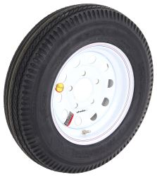 "Taskmaster 5.30-12 Bias Trailer Tire with 12"" White Mod Wheel - 5 on 4-1/2 - Load Range C"