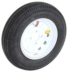 "Taskmaster 5.30-12 Bias Trailer Tire with 12"" White Mod Wheel - 4 on 4 - Load Range C"