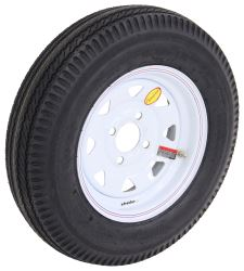 "Taskmaster 5.30-12 Bias Trailer Tire with 12"" White Spoke Wheel - 4 on 4 - Load Range C"