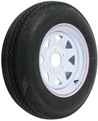 "ST205/75-D15 Bias Trailer Tire with 15"" Steel Wheel - 5 on 4-3/4 - Load Range C"
