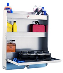 "Tow-Rax Aluminum Storage Cabinet w/ Folding Tray - 30"" Tall x 27"" Wide - Ma"