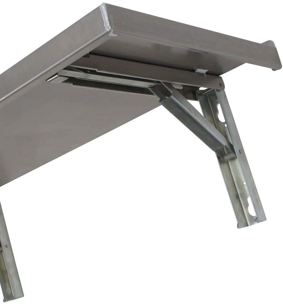 Tow rax wall mounted folding table aluminum 45 1 2 - Wall mounted folding table ...