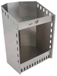 "Tow-Rax Corner Helmet Shelf - Aluminum - 21"" Tall x 14-1/4"" Wide x 15-3/4"" Deep"