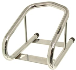"Tow-Rax Removable Wheel Chock w/ Hardware - 6-1/2"" Wide Tires - Tubular Steel - Chrome"