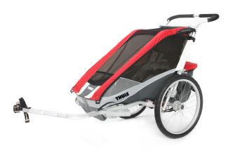 Thule Cougar Bike Trailer and Stroller - 1 Child - Red