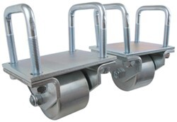 "Ultra-Fab Hitch Mounted Steel Rollers for RVs w/ 2-1/2"" Hitch Tubing - 3"" Diameter - Qty 2"